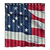 Dalliy Brauch usa flaggen Wasserdicht Polyester Shower Curtain Duschvorhang 167cm x 183cm
