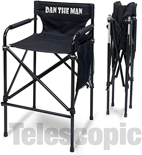 Implined Personalized Quad Style Tall Aluminum Directors Chair