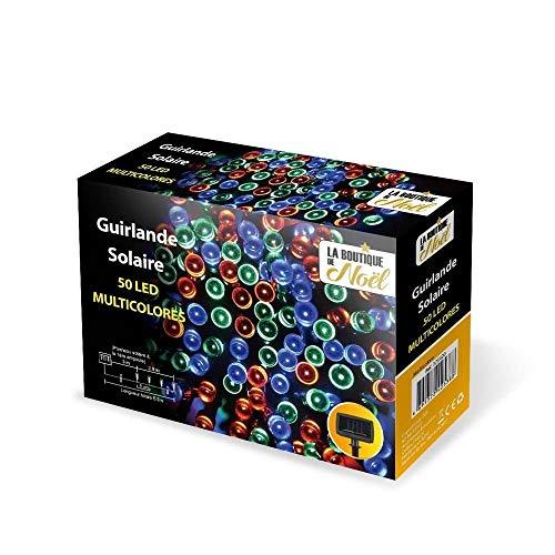 OSE Guirlandes solaires à LED Multifonctions Multicolore 5.9 mètres