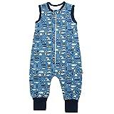 TupTam Saco de Dormir con Piernas de Verano para Bebés, Tráfico de automóviles/Azul, 116-122