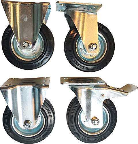PROMAT Rollen-/Radsatz 4-tlg. 2 Lenkrollen u. 2 Bockrollen f. Werkstattwagen PROMAT PROMAT, 4-teilig, 2 Lenkrollen und 2 Bockrollen