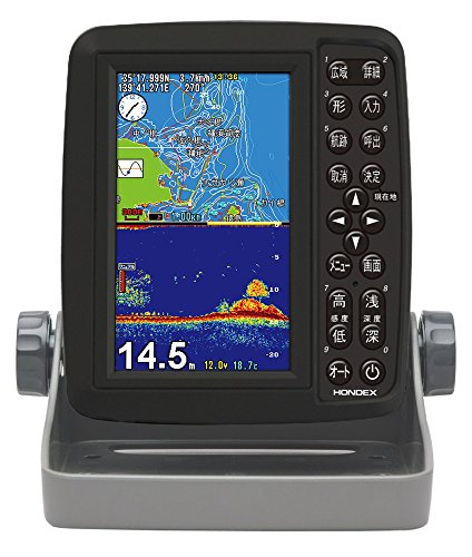 HONDEX PS-611CN Fish Finder Portable GPS Plotter Fish Finder Built-in GPS 5 Type Wide
