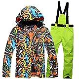 Mike Wodehous Hombres Traje for la Nieve de Invierno Chaqueta de esquí y Pantalones fijados for Hombre Chaqueta de Snowboard (Color : 03, Size : M)