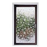 Etiqueta engomada de cristal del estilo de la flor estática, película de la ventana de la privacidad anti-ultravioleta del laser, adecuada para el mercado de la tienda de la oficina en casa A 30x300cm