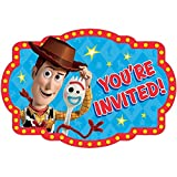 Toy Story 4 Invitations Postcard Birthday Party Invite, Seals and Save the Date Stickers Supplies Pack of 16