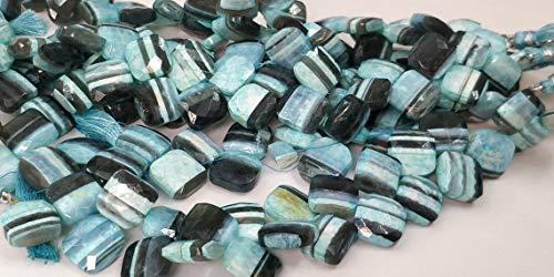 AAA+ cuentas cuadradas facetadas de ópalo natural en negrita, cuentas de ópalo audaz, cuentas facetadas con forma de cometa de ópalo, 15 x 15 mm