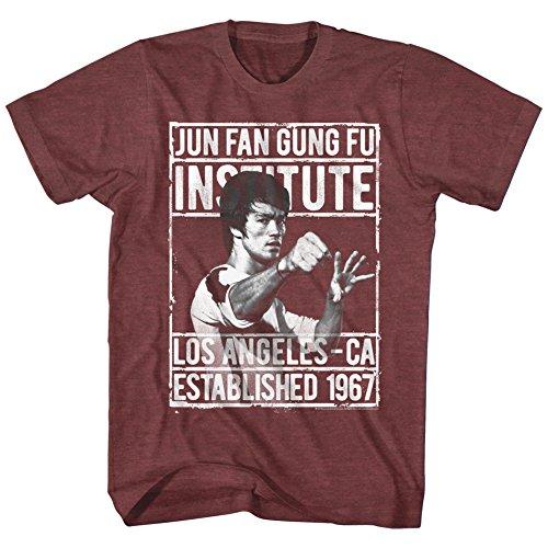 American Classics Bruce lee chino de artes marciales del ventilador icono de junio gung fu la cali 1967 camiseta para hombre X-Grande Rojo