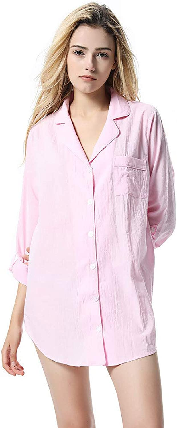Women's Sexy Pajamas Camisole Ladies Sexy Pajamas Women's Winter T Shirt Pajamas Dress Soft Long Sleeves Nightwear Pink for Ladies Winter Sexy Pajamas (Size   XL)