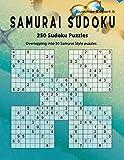 Samurai Sudoku: Summer 250 Puzzle Book, Overlapping into 50 Samurai Style Puzzles, Expert Sudoku Volume 5 [Idioma Inglés]