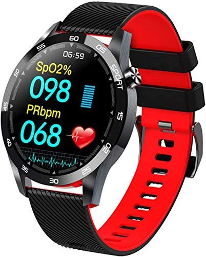 Reloj inteligente Bluetooth 4.0 de 1.54 pulgadas para hombre, con seguimiento de la actividad física, presión arterial, reloj inteligente para mujer, GTS reloj inteligente para-rojo