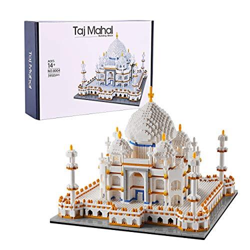 Colección de arquitectura 2021: Taj Mahai Building Set Set de construcción para adultos, y gran regalo para cualquier aficionado, Micro Mini Block 3950 piezas 2021 Nuevo (con caja de paquete)