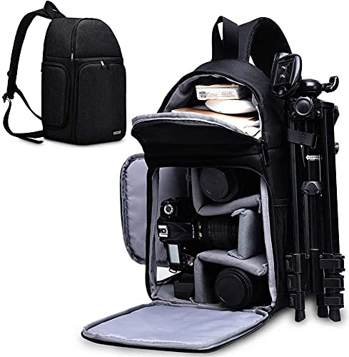 OSOCE Mochila para cámara con soporte para trípode para cámaras DSLR/SLR y sin espejo