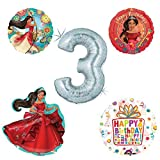 Princess Elena Of Avalor Holographic 3rd Birthday Party Balloon Kit Decorating Supplies by Mayflower Products