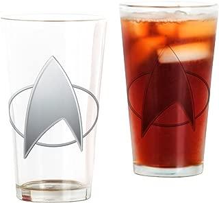 CafePress Star Trek TNG Pint Glass, 16 oz. Drinking Glass