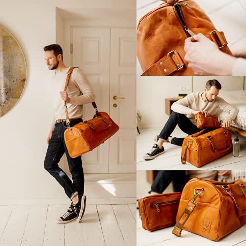 Berliner Bags Oslo XL Reisetasche aus Leder Weekender - 3