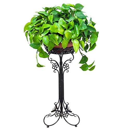 Europäische Schmiedeeisen-Blumen-Stand-, Balkon-einzelne Schicht-saftiger Blumen-Topf-Zahnstangen-moderner minimalistischer Boden-Blumen-Stand-Boden-Ecken-Wohnzimmer-Shop-offener Shop-Blumen-Stand