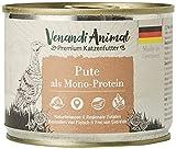 Venandi Animal - Pienso Premium para Gatos - Gallina de Pavo - Completamente Libre de Cereales - 6 x 200 g