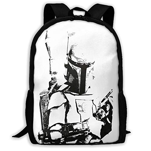 Hdadwy Boba Fett Big Student Backpack School Computer Bag Large Capacity Laptop Backpack for Students College School Travel One Size