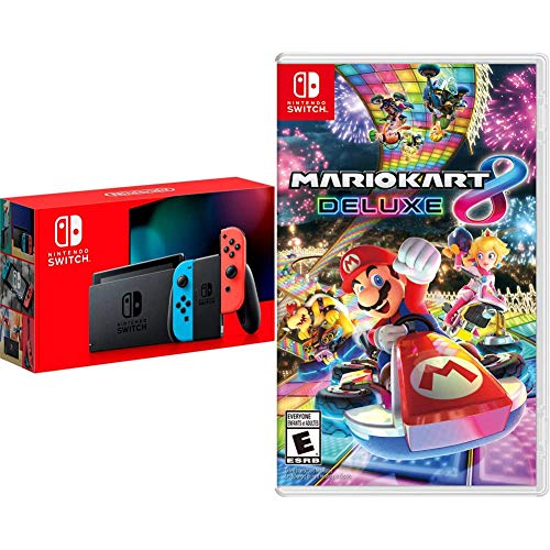 Nintendo Switch with Neon Blue and Neon Red Joy‑Con - HAC-001(-01) &...