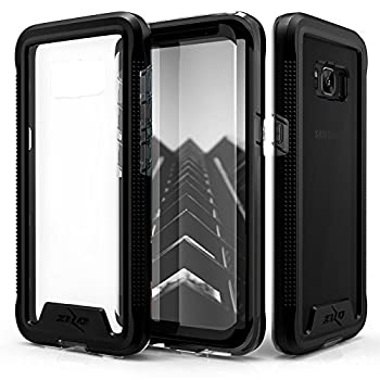 ZIZO ION Series for Samsung Galaxy S8 Plus Case Military Grade Drop Tested with Tempered Glass Screen Protector Black Smoke