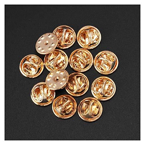 WEIGENG 20/50 piezas de cobre mariposa broche Pin insignia titular broche tapa trasera tapones Broches base joyería hallazgos,