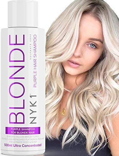 Violettes Shampoo Für Blondes Haar (500ml) SULPHATFREIES Purple Shampoo Silbershampoo Für blondes Haar Graues Haar Gebleichtes Haar Lila Blond Shampoo - Anti Gelbstich Shampoo No Yellow Shampoo