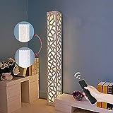 ELINKUME Lámpara de pie LED regulable de color blanco, con función de mando a...