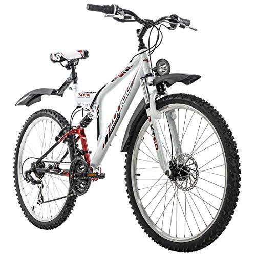 """KS Cycling Mountainbike ATB Fully 26"""" Zodiac weiß RH 48 cm"""