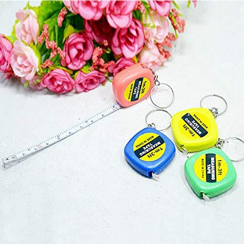 MXECO Cute 1 Metro Color Aleatorio Llavero Llavero Herramienta Popular Mini Cinta Métrica Llavero Portátil
