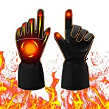 Heated Gloves, Electric Heat Gloves for Women and Men, Battery Powered Waterproof Winter Thermal Gloves, Warm Touchscreen Gloves for Outdoor Sports Cycling Riding Skiing Skating Hiking Hunting