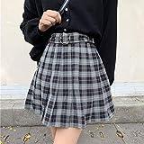 LJLLINGA Mini Faldas Plisadas a Cuadros Harajuku Grunge Invierno otoño Faldas de Mujer gótico Streetwear Falda Corta de Moda de Cintura Alta