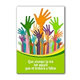 Antracita Catalan Tarjeta Despedida Manos 20x30 cm Que aixequi la mà Tot aquell Que et trobarà a faltar