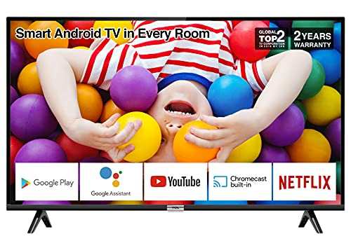 TCL 32P500K 32-Inch LED Smart Android TV HD, HDR, Micro Dimming, Netflix,...