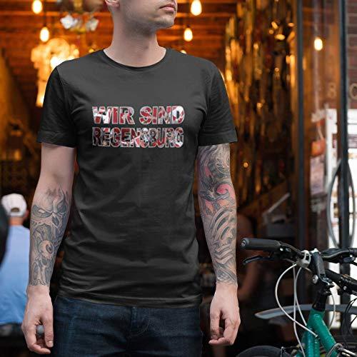 World of Football T-Shirt wir sind Regensburg schwarz - XXL