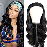 Body Wave Headband Human Hair Wig 22 Inch Glueless None Lace Front Wig Brazilian Virgin Hair Wear...