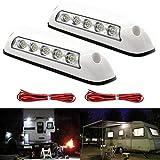 12V Awning Lights/RV LED Porch Lights Interior Wall Lamps for Trucks, Motor home,Trailer, Boats, Yacht, Caravan,RV Van Camper