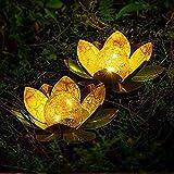 KKSY Luz Solar LED para Exteriores, Luz de Flor de Loto,...