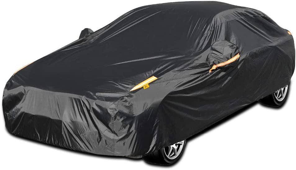 COLOR RAIN TIME UV Protection Car Cover Windproof Dustproof Scratch Resistant Outdoor Universal Full Car Covers for Sedan S/…