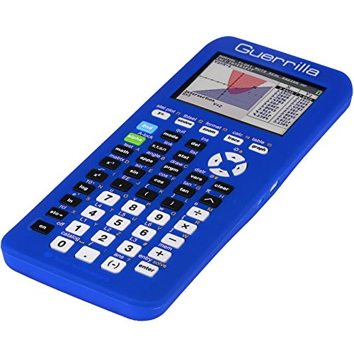 Guerrilla Silicone Case for Texas Instruments TI-84 Plus CE Color Edition Graphing Calculator With Screen protector and Graphing Ruler, Blue Photo #3