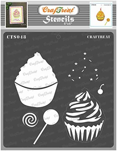 CrafTreat Layered Stencils for Painting on Wood Canvas Paper Fabric Floor Wall and Tile Cup product image