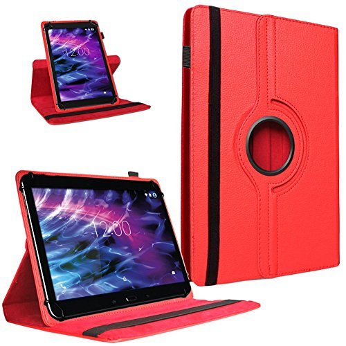 UC-Express Tablet Hülle für Medion Lifetab P9702 X10302 P10400 P10506 Tasche Cover Hülle Rot