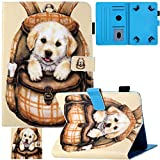 Universal 7.0-7.5 inch Tablet Case, Artyond PU Leather Folio Smart Cards Slots Case with Magnetic Closure Cover for Android, Windows,Kindle,Galaxy Tab & Other 7.0-7.5 inch Tablet (Cute Dog)