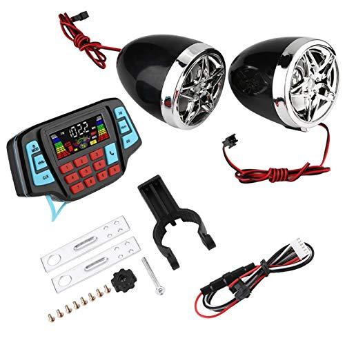 Motocicleta Moto Altavoces Bluetooth Impermeable, Montaje en manillar BT Reproductor de MP3 Audio Sistema amplificador de altavoz estéreo Portador de tarjeta USB TF