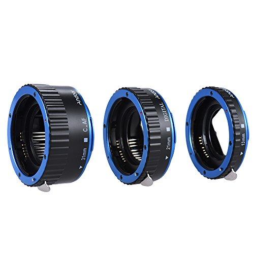 Andoer Makro-Verlängerungsringe/Zwischenringe, TTL-Autofokus, für alle Canon EF und EF-S Objektive, für Canon EOS EF EF-S 60D 7D 5D II 550D