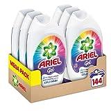 Ariel Washing Liquid Laundry Detergent Gel, 144 Washes (6 x 888 ml)