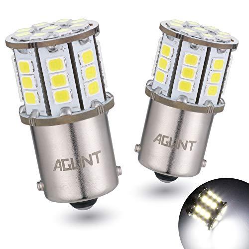 AGLINT P21W LED Bombilla 1156 BA15S 33SMD 12V 24V para Automóvil RV Luces Traseras Marcha Atrás Luz de Señal de Giro Luz Diurnas Luces 6000K Blanco 2 Piezas