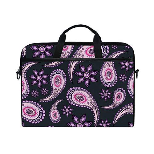 CPYang Laptop Bag Floral Tribal Paisley Computer Laptop Case Notebook Laptop Shoulder Messenger Bag Sleeve for Boys Girls Women Men