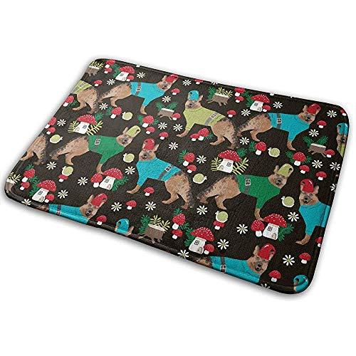 Joe-shop hondenspeelgoed van Duitse paddenstoelen voor honden, zwart, voor Kerstmis, voetmat, bed, etages, buiten, toilet, keuken tapijt