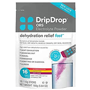 PATENTED, DOCTOR-CREATED FORMULA - Born on a relief mission, DripDrop ORS was created by a doctor and formulated with a patented mix of electrolytes & glucose to deliver fast dehydration relief. Also contains potassium, magnesium, zinc, and Vitamin C...