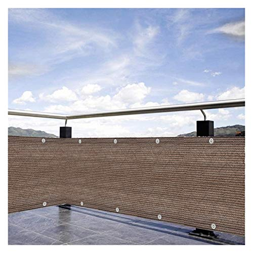LIANGJUN Pantalla Balcón Privacidad, Proteccion Solar Red De Aislamiento Ojal De Metal por Exterior Pérgola Patio Interior Jardín Patio Trasero, Marrón, Tamaño Personalizado